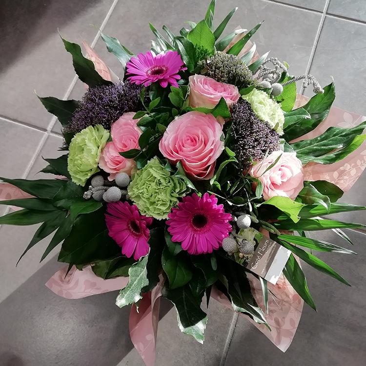 Bouquet avec bulle d'eau
